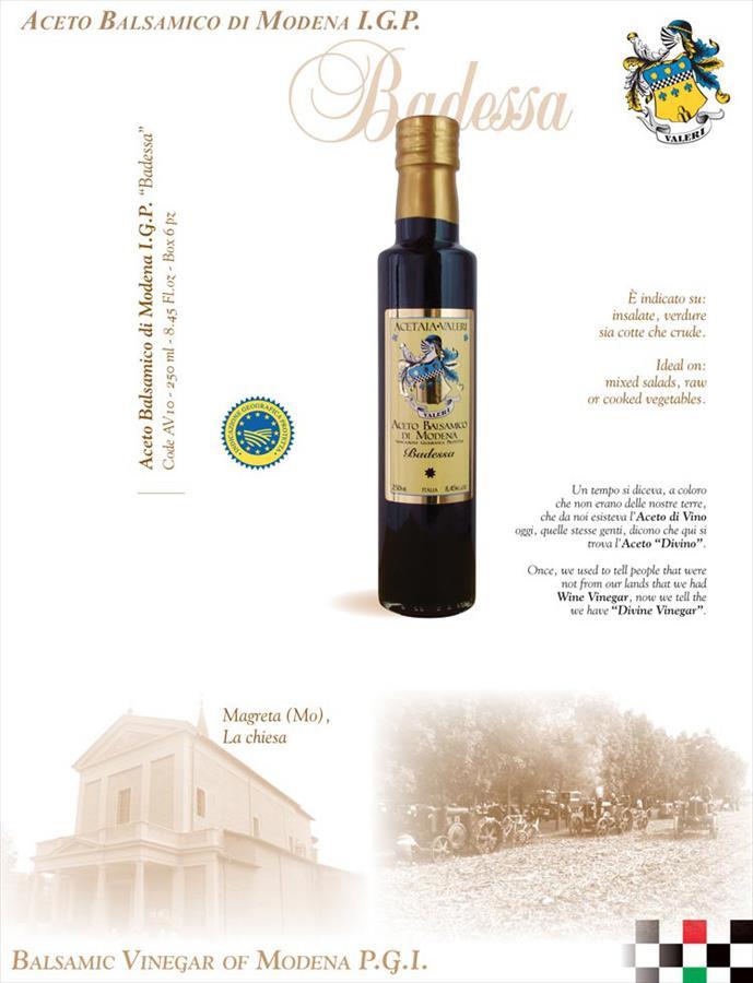 Aceto balsamico Modena, IGP, Badessa