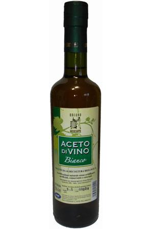 Aceto di Vino bianco biologico acidità 9,5° - 0,5l