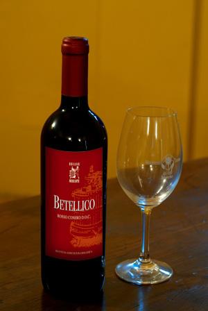 """Rosso Conero DOC biologico base """"Betellico"""" 2014 - 0,75l"""