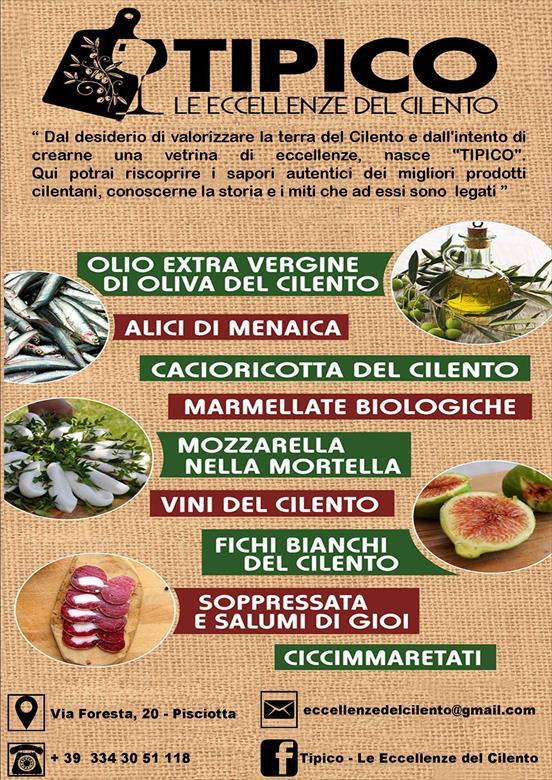 Tipico - le eccellenze del Cilento - Pisciotta(SA)
