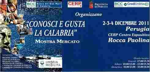 Conosci e Gusta la Calabria a Perugia 2011