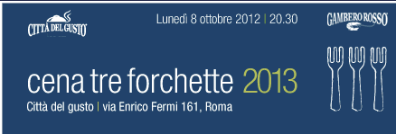 Cena tre forchette 2012