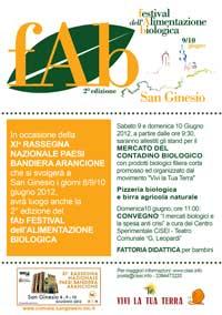 Fab 2012 Festival dell'alimentazione biologica