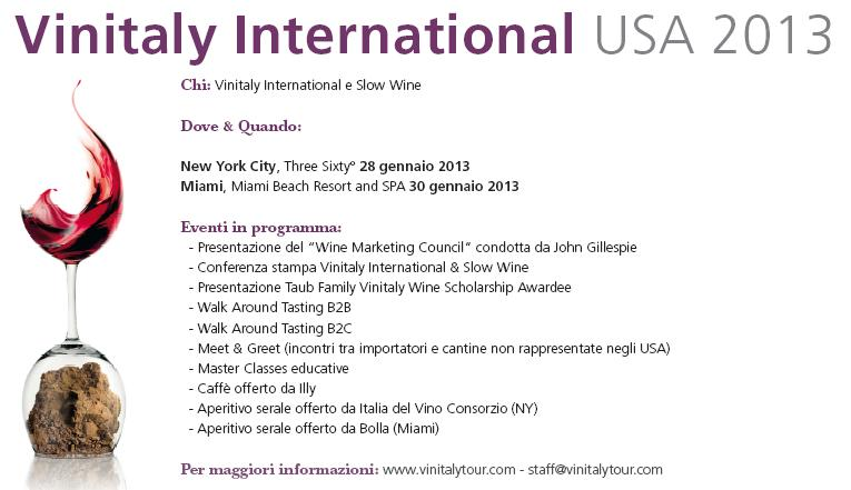 Vinitaly in the world - US 2013