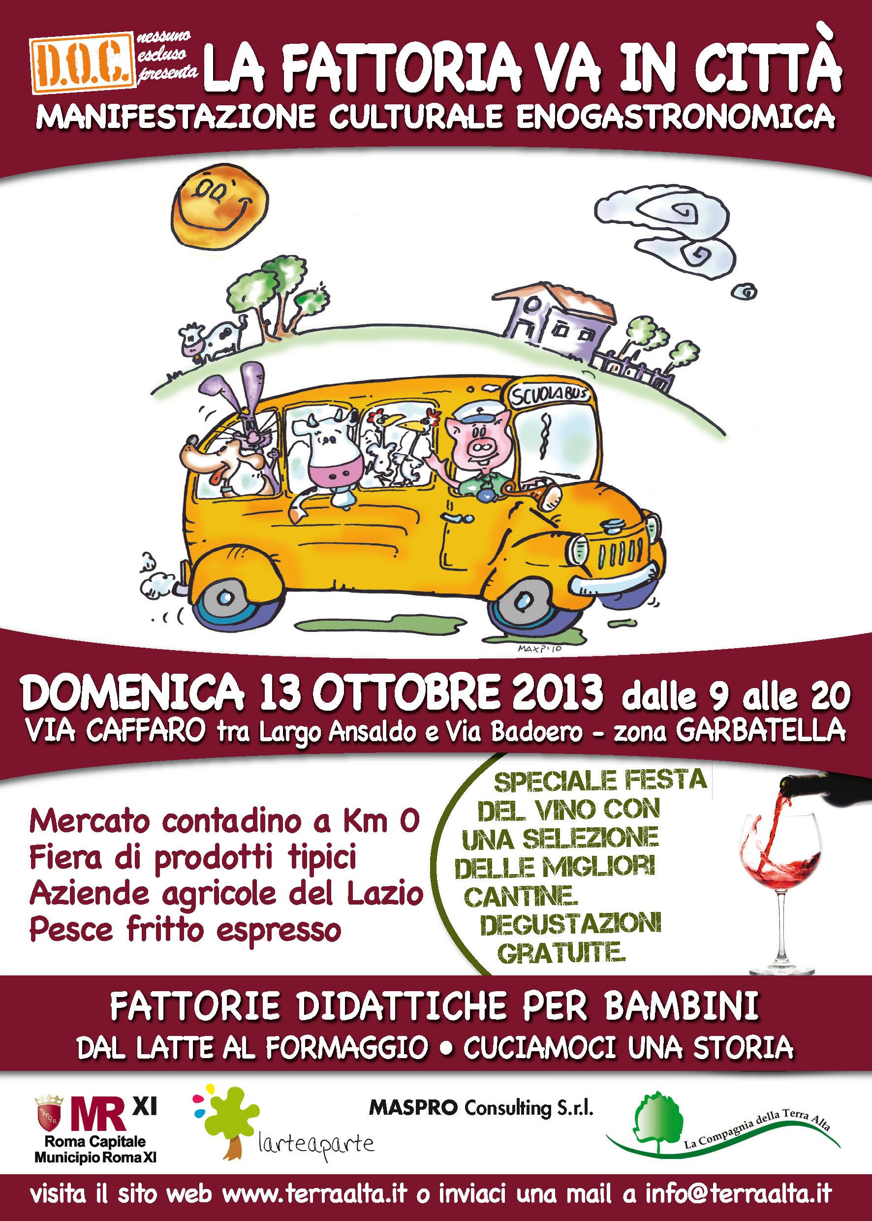 La Fattoria va in Città - Speciale Festa del vino 2013