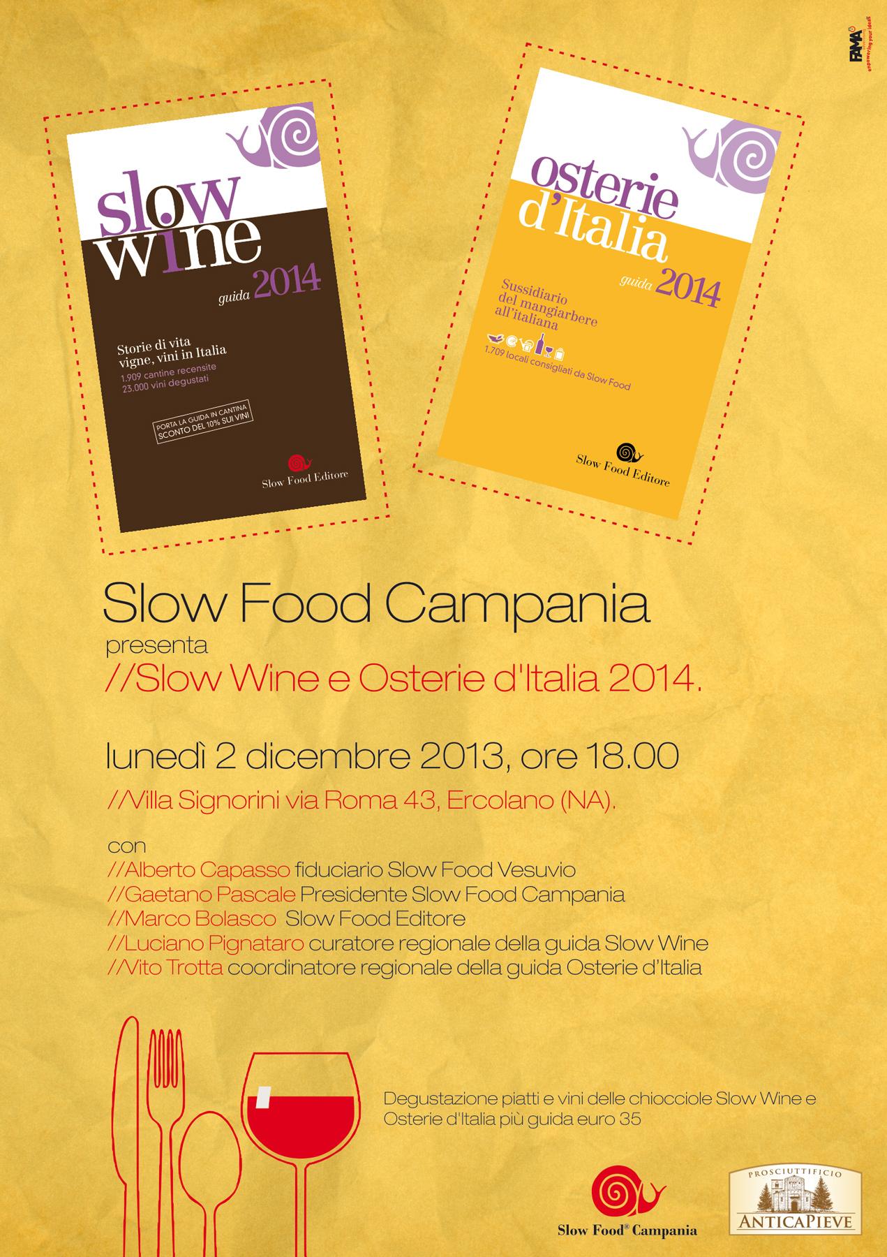 Le Chiocciole 2014 di Osterie d'Italia e Slow Wine a Villa Signorini