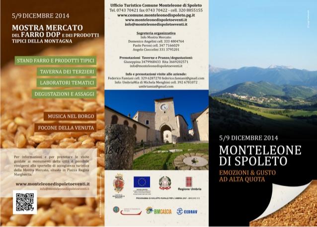 Mostra Mercato del  Farro DOP e dei prodotti tipici della montagna  2014