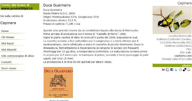 La Capinera omaggia il Duca Guarneiro