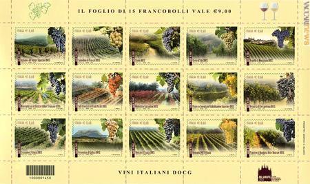 Un francobollo celebra la Vernaccia di Serrapetrona