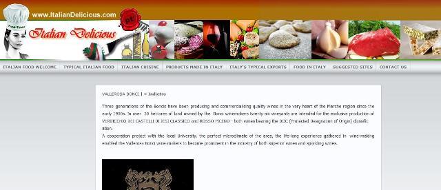 Italian delicious presenta la cantina Vallerosa Bonci